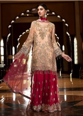 Zebtan Embroidered Chiffon Unstitched 3 Piece Suit Z20ZBT 08 - Luxury Collection