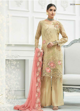 Zebtan Embroidered Chiffon Unstitched 3 Piece Suit ZBT20Z-01 - Luxury Collection