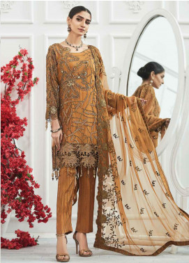 Zebtan Embroidered Chiffon Unstitched 3 Piece Suit ZBT20Z-04 - Luxury Collection