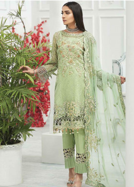 Zebtan Embroidered Organza Unstitched 3 Piece Suit ZBT20Z-05 - Luxury Collection