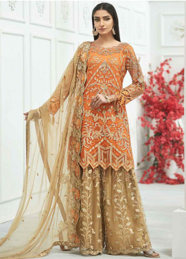 Zebtan Embroidered Chiffon Unstitched 3 Piece Suit ZBT20Z-06 - Luxury Collection