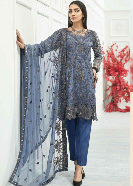 Zebtan Embroidered Chiffon Unstitched 3 Piece Suit ZBT20Z-07 - Luxury Collection