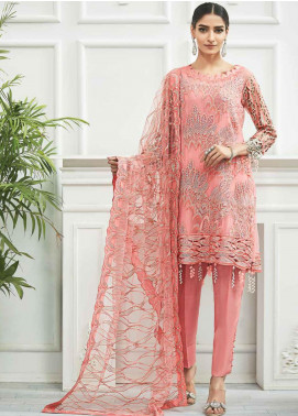Zebtan Embroidered Chiffon Unstitched 3 Piece Suit ZBT20Z-08 - Luxury Collection