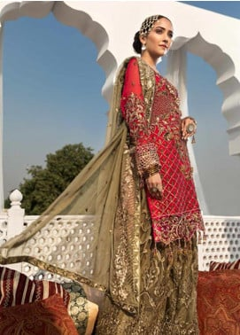 Zebtan Embroidered Chiffon Unstitched 3 Piece Suit ZBT19-Z3 01 - Luxury Collection