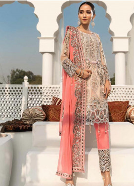 Zebtan Embroidered Chiffon Unstitched 3 Piece Suit ZBT19-Z3 02 - Luxury Collection