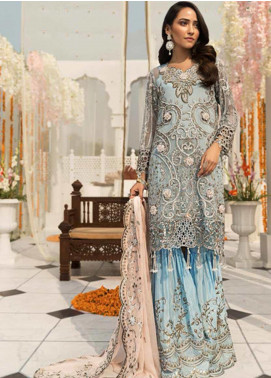 Zebtan Embroidered Chiffon Unstitched 3 Piece Suit ZBT19-Z3 03 - Luxury Collection