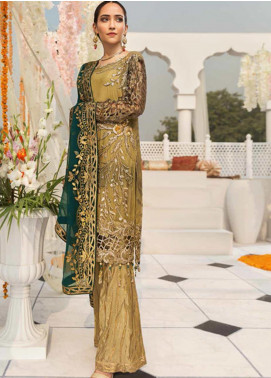 Zebtan Embroidered Chiffon Unstitched 3 Piece Suit ZBT19-Z3 05 - Luxury Collection