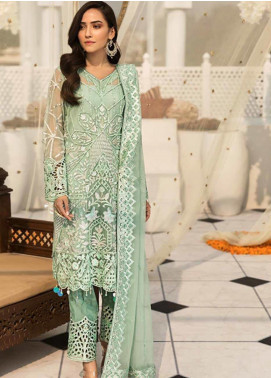 Zebtan Embroidered Chiffon Unstitched 3 Piece Suit ZBT19-Z3 06 - Luxury Collection