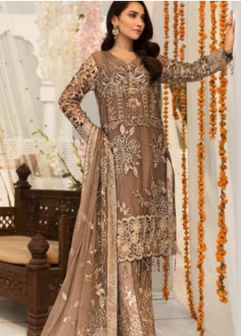 Zebtan Embroidered Chiffon Unstitched 3 Piece Suit ZBT19-Z3 07 - Luxury Collection