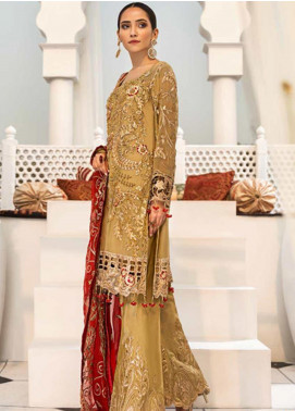 Zebtan Embroidered Chiffon Unstitched 3 Piece Suit ZBT19-Z3 08 - Luxury Collection