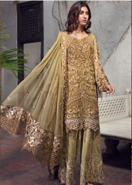 Zebtan Embroidered Chiffon Unstitched 3 Piece Suit ZBT19-Z2 01 - Luxury Collection