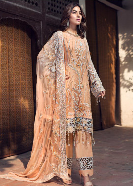 Zebtan Embroidered Chiffon Unstitched 3 Piece Suit ZBT19-Z2 02 - Luxury Collection