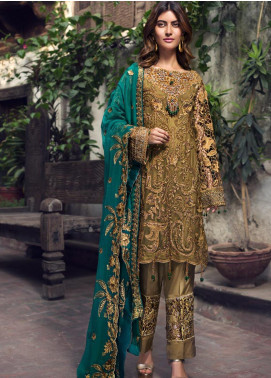 Zebtan Embroidered Chiffon Unstitched 3 Piece Suit ZBT19-Z2 04 - Luxury Collection