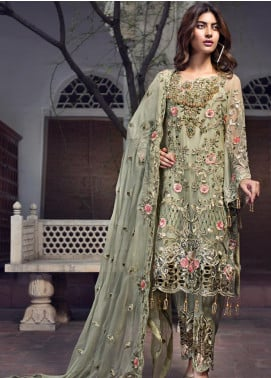 Zebtan Embroidered Chiffon Unstitched 3 Piece Suit ZBT19-Z2 05 - Luxury Collection