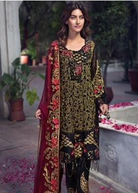 Zebtan Embroidered Chiffon Unstitched 3 Piece Suit ZBT19-Z2 06 - Luxury Collection