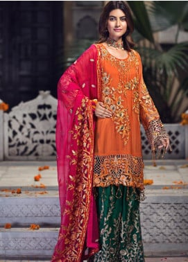 Zebtan Embroidered Chiffon Unstitched 3 Piece Suit ZBT19-Z2 07 - Luxury Collection
