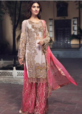 Zebtan Embroidered Chiffon Unstitched 3 Piece Suit ZBT19-Z2 08 - Luxury Collection