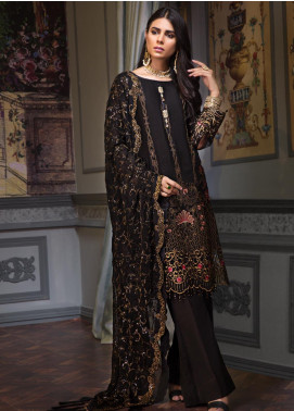 Zeenat by Mohagni Embroidered Chiffon Unstitched 3 Piece Suit ZMO19C D-01 - Luxury Collection