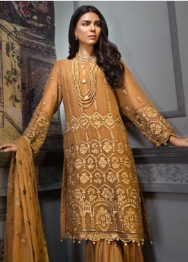 Zeenat by Mohagni Embroidered Chiffon Unstitched 3 Piece Suit ZMO19C D-04 - Luxury Collection