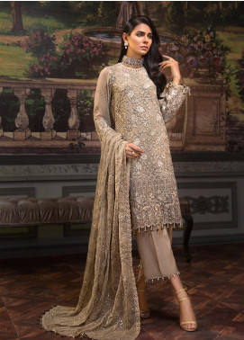Zeenat by Mohagni Embroidered Chiffon Unstitched 3 Piece Suit ZMO19C D-05 - Luxury Collection