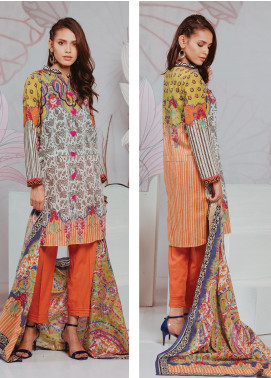 Zellbury Printed Lawn Unstitched 3 Piece Suit ZB20SL 102 - Spring / Summer Collection