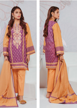 Zellbury Embroidered Lawn Unstitched 3 Piece Suit ZB20SL 107 - Spring / Summer Collection