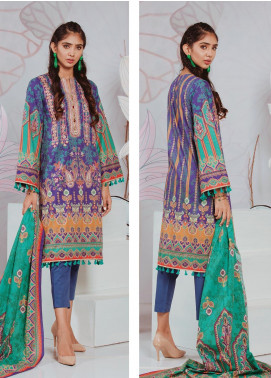 Zellbury Embroidered Lawn Unstitched 3 Piece Suit ZB20SL 108 - Spring / Summer Collection