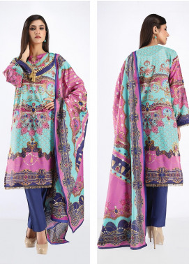 Zellbury Printed Lawn Unstitched 3 Piece Suit ZB20SL 121 - Spring / Summer Collection