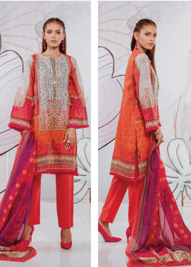 Zellbury Printed Lawn Unstitched 3 Piece Suit ZB20SL 123 - Spring / Summer Collection