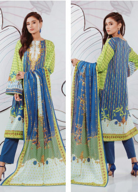 Zellbury Printed Lawn Unstitched 3 Piece Suit ZB20SL 124 - Spring / Summer Collection