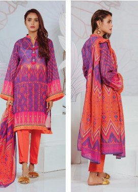 Zellbury Printed Lawn Unstitched 3 Piece Suit ZB20SL 130 - Spring / Summer Collection