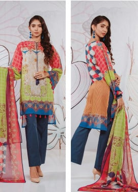 Zellbury Printed Lawn Unstitched 3 Piece Suit ZB20SL 132 - Spring / Summer Collection