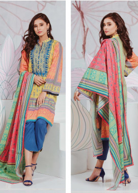 Zellbury Embroidered Lawn Unstitched 3 Piece Suit ZB20SL 133 - Spring / Summer Collection