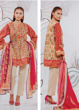 Zellbury Printed Lawn Unstitched 2 Piece Suit ZB20SL 137 - Spring / Summer Collection