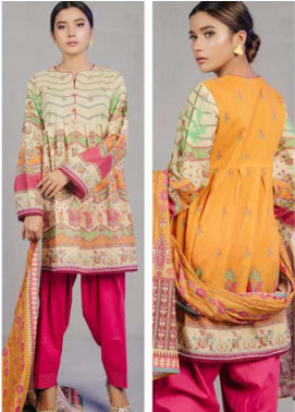 Zellbury Printed Lawn Unstitched 3 Piece Suit ZB20L ZW320227 - Spring / Summer Collection