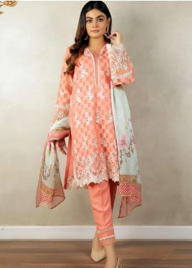 Zellbury Embroidered Jacquard Unstitched 3 Piece Suit ZB20LW 430 - Winter Collection
