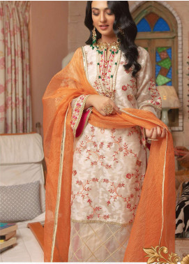 Zellbury Embroidered Cotton Unstitched 3 Piece Suit ZB20LW 434 - Winter Collection