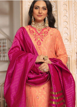 Zellbury Embroidered Cotton Unstitched 3 Piece Suit ZB20LW 435 - Winter Collection