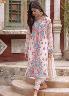 Zellbury Embroidered Chiffon Unstitched 3 Piece Suit ZB20LW 444 - Winter Collection