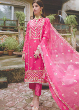 Zellbury Embroidered Chiffon Unstitched 3 Piece Suit ZB20LW 446 - Winter Collection