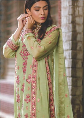 Zellbury Embroidered Chiffon Unstitched 3 Piece Suit ZB20LW 447 - Winter Collection