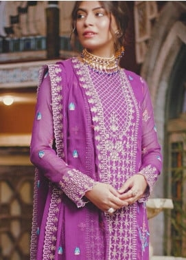 Zellbury Embroidered Chiffon Unstitched 3 Piece Suit ZB20LW 448 - Winter Collection