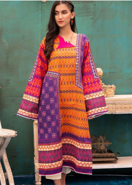 Zellbury Printed Khaddar Unstitched Kurties ZB20W ZWC1-470 - Winter Collection