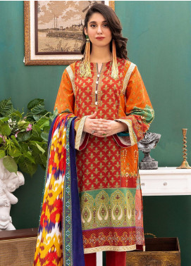 Zellbury Printed Khaddar Unstitched 2 Piece Suit ZB20W ZWC2-484 - Winter Collection