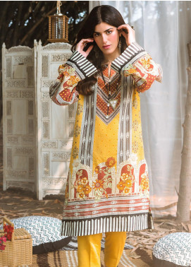 Zellbury Printed Khaddar Unstitched 2 Piece Suit ZB20W ZWC2-485 - Winter Collection