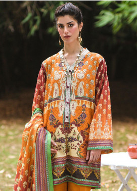 Zellbury Printed Khaddar Unstitched 2 Piece Suit ZB20W ZWC2-496 - Winter Collection