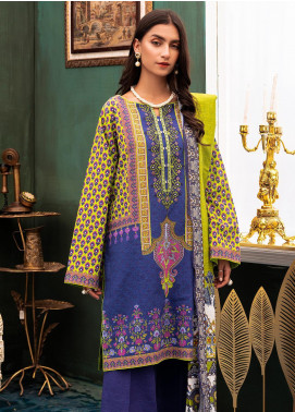 Zellbury Embroidered Khaddar Unstitched 2 Piece Suit ZB20W ZWC2-501 - Winter Collection