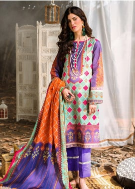 Zellbury Printed Khaddar Unstitched 3 Piece Suit ZB20W ZWC3-521 - Winter Collection