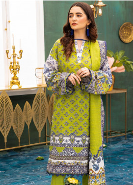 Zellbury Printed Khaddar Unstitched 3 Piece Suit ZB20W ZWC3-523 - Winter Collection