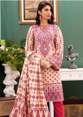Zellbury Printed Khaddar Unstitched 3 Piece Suit ZB20W ZWC3-525 - Winter Collection